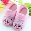 รองเท้าเด็กอ่อน ลายหมีน้อย สีชมพู Size 11-13 thumbnail 1