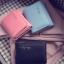 [ พร้อมส่ง ] - กระเป๋าสตางค์แฟชั่น สไตล์เกาหลี ใบเล็ก หนังนิ่มน้ำหนักเบา พกพาสะดวก แบบ 3 พับ กระดุมปิด thumbnail 8
