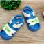 รองเท้ารัดส้นเด็กวัยหัดเดิน สีฟ้าขาวปิดปลายนิ้วเท้ากันชน Size 15-18 thumbnail 3