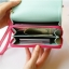 [ พร้อมส่ง ] - กระเป๋าสตางค์แฟชั่น สไตล์เกาหลี สีชมพูเข้ม ใบกลาง(รุ่นใหม่) แต่งมงกุฎ งานสวยน่ารัก น่าใช้มากๆค่ะ thumbnail 9