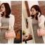 [ พร้อมส่ง ] - กระเป๋าแฟชั่น ถือ&สะพาย สไตล์เกาหลี สีดำคลาสสิค ทรงหมอนตั้งได้ ไซส์ MINI ดีไซน์สวยเก๋ งานหนังสวยแบบสาน เหมาะทุกโอกาสการใช้งาน thumbnail 17