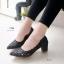 7125 รองเท้าคัชชู แบบฉลุ ลายดอกกุหลาบ ขอบหยัก thumbnail 1
