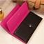 [ พร้อมส่ง ] - กระเป๋าสตางค์แฟชั่น สีชมพู ใบยาว แต่งลายหนังงู ตัดขอบสีชมพู งานสวย น่าใช้มากๆค่ะ thumbnail 9