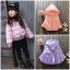 เสื้อกันหนาวผ้าร่ม ตัวพอง เอวจั๊ม สำหรับเด็กหญิง อายุ 2-7 ปี thumbnail 1