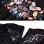 เดรสแฟชั่นสีดำ ลายผีเสื้อดอกไม้ thumbnail 5