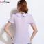 เสื้อผ้าไซส์ใหญ่แขนสั้นผ้าชีฟองสีม่วงตัดต่อผ้าลูกไม้ถักโครเชต์ด้านหน้า thumbnail 2