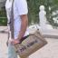 [ พร้อมส่ง ] - กระเป๋าแฟชั่น ผู้ชาย ผู้หญิงใช้ได้ สะพายข้าง สีกากี ทรงกระบอก ช่องใส่ของเยอะ Canvas+Nylon คุณภาพ ตัดเย็บอย่างดี thumbnail 2