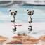 ต่างหูดินปั้น Cutie Raccoon Earrings thumbnail 1