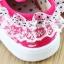 รองเท้าเด็กหญิงสีชมพู แบบผูกเชือก ประดับลูกไม้น่ารัก Size 27-32 thumbnail 4