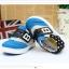 รองเท้าคัชชูผ้าเด็กเท่ห์ๆ B.boy ดาวธงอเมริกา สีฟ้าเทาดำ Size 21-32 thumbnail 4