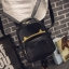 [ Pre-Order ] - กระเป๋าเป้แฟชั่น สไตล์เกาหลี สีดำคลาสสิค หนังอัดลายตารางด้านหน้า ดีไซน์สวยเก๋ไม่ซ้ำใคร งานหนังหนา มันเงาสวยมากค่ะ thumbnail 8