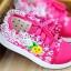 รองเท้าเด็กหญิงสีชมพู แบบผูกเชือก ประดับลูกไม้น่ารัก Size 27-32 thumbnail 1