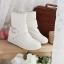 รองเท้าบู๊ทขาว สำหรับวัยใส น่ารักสไตล์เกาหลี Size 34-39 thumbnail 1