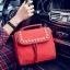 [ ลดราคา ] - กระเป๋าแฟชั่น นำเข้าสไตล์เกาหลี สีแดงโดดเด่น ปักหมุดขอบ ทรง Retro เก๋ๆ ดีไซน์สวยเท่ๆ แบบเก๋มากๆ เหมาะสำหรับสาวๆ ชอบงานดีไซน์ ล้ำๆ thumbnail 10