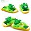 รองเท้าแตะเด็ก หมีสีเขียวบีบหัวมีเสียง Size 27-29 *** สินค้ามีไฟข้างเดียว อีกข้างไม่มีไฟค่ะ thumbnail 3