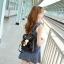 [ Pre-Order ] - กระเป๋าเป้แฟชั่น นำเข้าสไตล์เกาหลี สีแดงเข้ม แต่งหัวเข็มขัดช่องใส่ของด้านหน้า ดีไซน์สวยเก๋ ที่สาวๆ ไม่ควรพลาด thumbnail 5