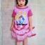 ชุดเจ้าหญิงดิสนีย์ เด็กเล็ก สีชมพู ไซส์ L thumbnail 1