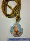 8 USD (P5USD+SHIP3USD) เชือกสร้อยคอ+จี้กรอบพลาสติกรูปหลวงปู่ฟัก สนฺติธมฺโม วัดพิชัยพัฒนาราม (เขาน้อยสามผาน) Amulet Thai. Necklace Plastic Pendant Luang Poo Fak. (Fak San-Ti-Tham-Mo)