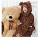 +สินค้าพร้อมส่งค่ะ++ชุดเซ็ทน่ารัก เสื้อแขนยาว มี hood หูหมีน่ารัก ผ้าขนแกะนิ่มมาก+กางเกงขายาวเอวจั้มแบบยางยืด brown