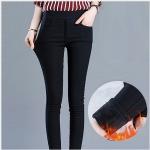 รุ่นใหม่ ! กางเกงสกินนี่วูล สีดำ บุขนแคชเมียร์เนื้อนิ่ม แบบมีกระเป๋าหน้า Skinny Wool S-3XL ปลีก 620 / ส่ง 590