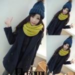 (สินค้าพร้อมส่งค่ะ) เสื้อแฟชั่น coat เกาหลี ตัวยาว คอปก แขนยาว ผ้า Woolen เนื้อดีซับในเป็นขนด้านในนิ่มมากใส่แล้วอุ่นมากค่ะ – สี dark blue (Size: L)