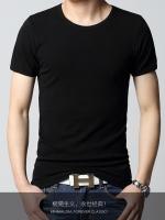พร้อมส่ง - เสื้อยืด คอกลม แขนสั้น สีดำ (M,L,XL,2XL)