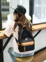 กระเป๋าเป้แฟชั่นสีน้ำตาล สะพายหลัง วัสดุไนลอน กันน้ำ งานดี แข็งแรงทนทาน ทรงวัยรุ่น ชั่นเกาหลี
