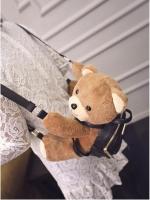 กระเป๋าเป้สีดำ กระเป๋าสะพายตุ๊กตาหมี หนัง PU อย่างดี ที่เห็นแล้วต้องกรี๊ด แฟชั่นเกาหลี