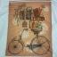 เสื้อยืดพื้นขาว (GRAVITY59) แฟชั่นแนว Vintage ลายจักรยานบรรทุกของ Size:L thumbnail 2