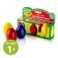 Crayola My First Egg-Shaped Crayons สีเทียนรูปไข่ 3สี ปลอดสารพิษ เหมาะสำหรับเด็ก 1ปีขึ้นไป thumbnail 1