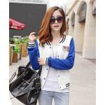 เสื้อคลุมแฟชั่นเกาหลีสีน้ำเงิน-1104