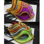 NK016 หน้ากากแฟนซี หน้ากากผู้ชาย-หน้ากากผู้หญิงเป็นโครงพลาสติกทับด้วยผ้ากำมะหยี่หลากสีสัน ตกแต่งด้วยริบบิ้นขลิบทองตามภาพถ่ายสินค้าจริงค่ะ
