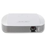 ACER C205 ความสว่าง(ANSI Lumens) 200 ความละเอียด(พิกเซล) 854x480 (FWVGA) ค่า Contrast เท่ากับ 1,000:1 น้ำหนัก0.32kg