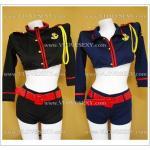 C6071 ชุดเซ็กซี่มาในแบบตำรวจสาว ตัวเสื้อเป็นผ้ายืดแขนยาวเอวลอย (รอคำบรรยายเพิ่มเติม)