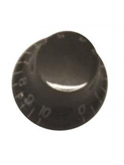 วอลุ่มกีต้าร์ไฟฟ้า สีดำตัวหนังสือทอง LP Bell Knob Style LPB-05