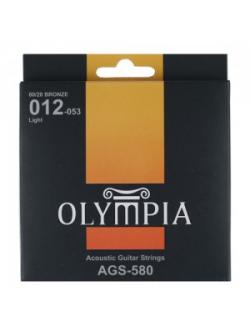 สายกีต้ารโ์ปร่งชุด 012-053 ยี่ห้อ Olympia AGS580