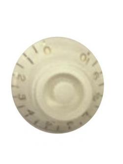 วอลุ่มกีต้าร์ไฟฟ้า สีขาวตัวหนังสือทอง LP Bell Knob Style LPB-02