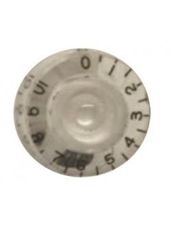 วอลุ่มกีต้าร์ไฟฟ้า สีขาวตัวหนังสือดำ Speed Knob Style LPS-01