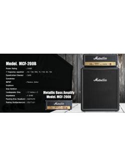 แอมป์เบส Metalic หัวเทริน 200 วัต MCF-200B