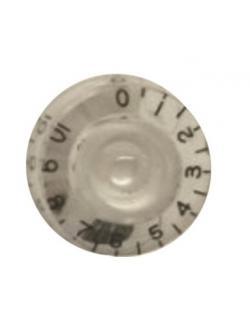 วอลุ่มกีต้าร์ไฟฟ้า สีใสตัวหนังสือดำ LP Speed Knob Style LPS-03