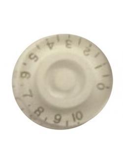 วอลุ่มกีต้าร์ไฟฟ้า สีขาวตัวหนังสือทอง LP Speed Knob Style LPS-02