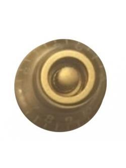 วอลุ่มกีต้าร์ไฟฟ้า สีทองตัวหนังสือขาว LP Bell Knob Style LPB-06
