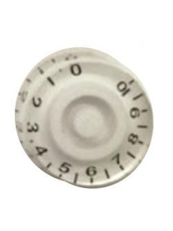 วอลุ่มกีต้าร์ไฟฟ้า สีขาวตัวหนังสือดำ LP Speed Knob Style LPS-13