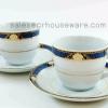 COFFEE CUP. Code : RPP2701 COFFEE. CUP SAUCER Code : RPP1010แก้วกาแฟจานเปลพอร์ซิเลนลายPrecious Blue,ชุดกาแฟวีไอพี,ชุดกาแฟรับแขกชุดน้ำเงินใหญ่