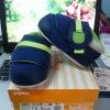 รองเท้าพีเจ้นท์ step1 สีน้ำเงินเข้มคาดเขียวสดใส ไซส์ 12.5 ซม.