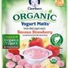 โยเกิร์ตเมลท์ออแกนิกส์ รสกล้วยกับสตอเบอรี่ Gerber Organic Yogurt Melts Fruit Snacks, Banana and Strawberry