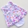 ชุดเด็กอ่อนหญิงผ้าคอตตอน คอระบายชมพูคิตตี้ ไซด์ 0-6 เดือน