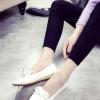 รองเท้าคัทชูส้นแบนสีขาว หัวแหลม ประดับโบว์หวานๆ สไตล์หวาน แฟชั่นเกาหลี
