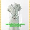 1863ชุดแซกทำงาน เสื้อผ้าคนอ้วนชิโนริเขียวปกฮาวายกระดุมหน้าสไตล์ไฮโซ มั่นสมาร์ทมีกระเป๋าล้วงเท่ห์