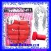 โรลม้วนผมแบบนุ่มและมีที่ล็อกในตัว ( Beauty Hair Curler ) สีแดง แบบ 10 ชิ้น